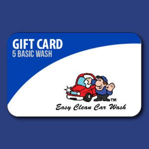 5 Basic Wash Gift Card